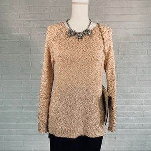 CHICO'S Sequin Sweater - Shell Pink - 0